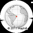 Outline Map of Alagoas