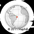 Outline Map of Poco Das Trinche