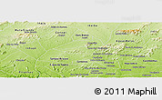 Physical Panoramic Map of Poco das Trinche