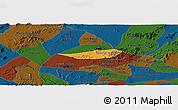 Political Panoramic Map of Poco das Trinche, darken