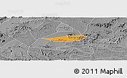 Political Panoramic Map of Poco das Trinche, desaturated