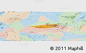 Political Panoramic Map of Poco das Trinche, lighten