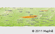 Political Panoramic Map of Poco das Trinche, physical outside