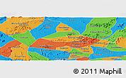 Political Panoramic Map of Poco das Trinche