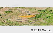 Political Panoramic Map of Poco das Trinche, satellite outside