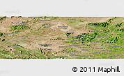 Satellite Panoramic Map of Poco das Trinche