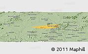 Savanna Style Panoramic Map of Poco das Trinche