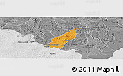 Political Panoramic Map of Porto Real do C., desaturated