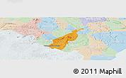 Political Panoramic Map of Porto Real do C., lighten
