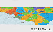 Political Panoramic Map of Porto Real do C.
