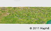 Satellite Panoramic Map of Porto Real do C.