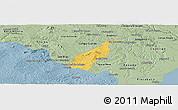 Savanna Style Panoramic Map of Porto Real do C.
