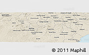 Shaded Relief Panoramic Map of Porto Real do C.