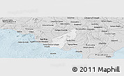 Silver Style Panoramic Map of Porto Real do C.