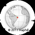 Outline Map of S Jose Da Tapera