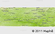 Physical Panoramic Map of S Jose da Tapera