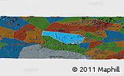 Political Panoramic Map of S Jose da Tapera, darken