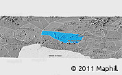 Political Panoramic Map of S Jose da Tapera, desaturated
