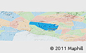 Political Panoramic Map of S Jose da Tapera, lighten