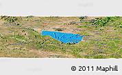 Political Panoramic Map of S Jose da Tapera, satellite outside