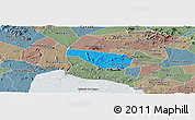 Political Panoramic Map of S Jose da Tapera, semi-desaturated