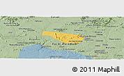 Savanna Style Panoramic Map of S Jose da Tapera