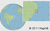 Savanna Style Location Map of S Luis do Quitun
