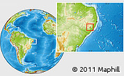 Physical Location Map of Santana D Mundau