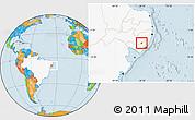 Political Location Map of Santana D Mundau, highlighted country