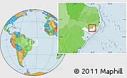 Political Location Map of Santana D Mundau, highlighted parent region