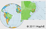 Political Location Map of Santana D Mundau