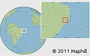 Savanna Style Location Map of Santana D Mundau