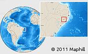 Shaded Relief Location Map of Santana D Mundau