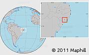 Gray Location Map of Taquarana