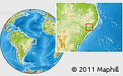 Physical Location Map of Taquarana