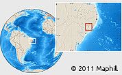 Shaded Relief Location Map of Taquarana