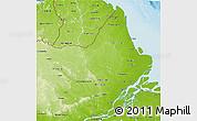 Physical 3D Map of Amapa