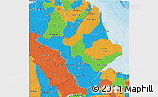 Political 3D Map of Amapa