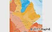 Political Shades 3D Map of Amapa