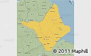 Savanna Style 3D Map of Amapa