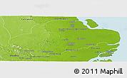 Physical Panoramic Map of Amapa