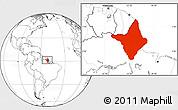 Blank Location Map of Amapa