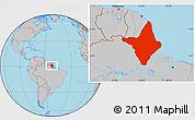 Gray Location Map of Amapa