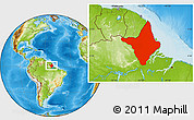 Physical Location Map of Amapa