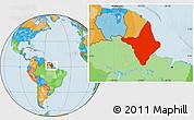 Political Location Map of Amapa