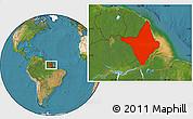Satellite Location Map of Amapa