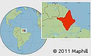 Savanna Style Location Map of Amapa