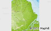 Physical Map of Amapa