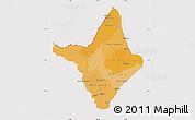 Political Shades Map of Amapa, cropped outside