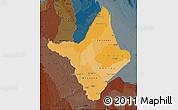 Political Shades Map of Amapa, darken